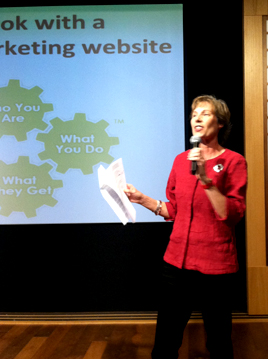 Patrice Rhoades-Baum presenting