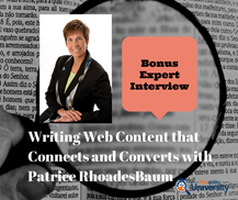 Writing Web Content that Converts & Connects -- a webinar with Heather Lutze & Patrice Rhoades-Baum