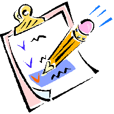 Checklist w-clipboard and pencil