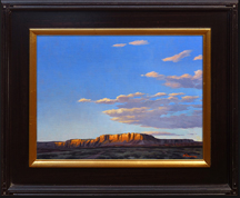 Twilight at the Butte--Painting by Michael Baum