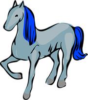 Horse-blue
