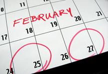 Calendar--Feb 25 & 27--3x2 inches--72dpi