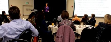 Patrice Rhoades-Baum presenting at NSA/Colorado event