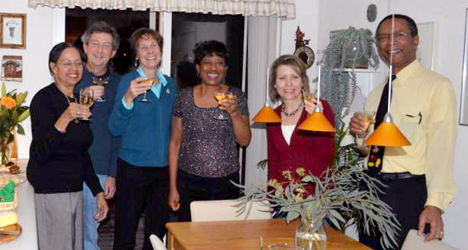 Toasting the New Year after watching fireworks (photo by Randy Edwards)