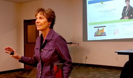 Patrice Rhoades-Baum presents at CTU marketing class-small 2-15