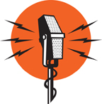 Microphone with orange bkgd-small
