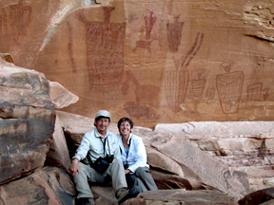Michael Baum & Patrice Rhoades-Baum at pictograph site