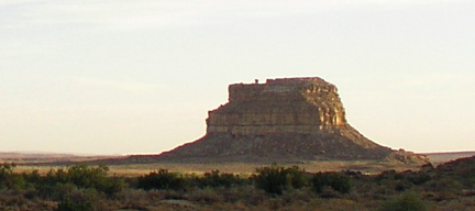 Fajada Butte, photo by Michael Baum